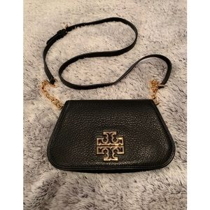 Tory Burch Black Britten Mini Crossbody Bag